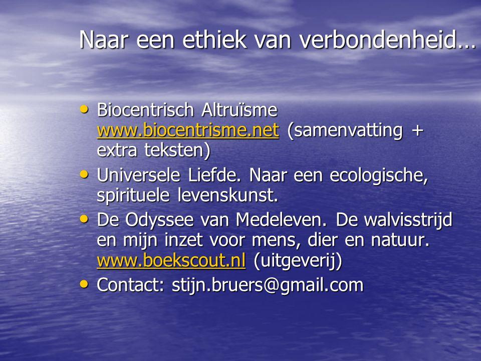 Biocentrisch Altruïsme www.biocentrisme.net (samenvatting + extra teksten) Biocentrisch Altruïsme www.biocentrisme.net (samenvatting + extra teksten)