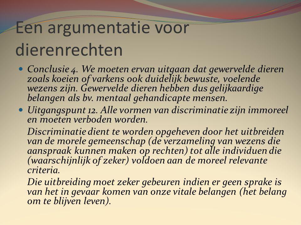 Een argumentatie voor dierenrechten Conclusie 4.