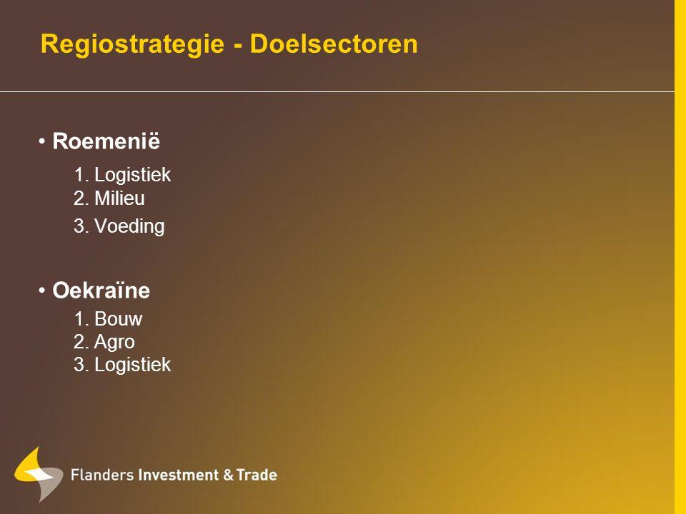Vlaamse handel met Oekraïne Export: 2005: € 303,2 miljoen ( 3,6%) machines & elektrisch materieel, chemie & farmaceutica, textiel, kunststof 44 ste exportmarkt Import: 2005: € 116,3 miljoen ( 1,1%) machines, edelstenen, minerale producten, chemie, textiel 63 ste leverancier van Vlaanderen