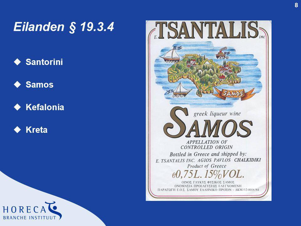 9 Overige wijngebieden rond de Middellandse Zee § 20 uTurkije § 20.2 uCyprus § 20.3 uLibanon § 20.4 uIsraël § 20.5 uTunesië § 20.6 uAlgarije § 20.7 uMarokko § 20.8 uMalta § 20.9