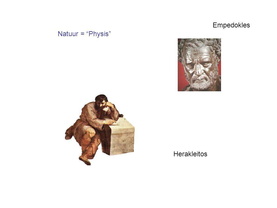 """Natuur = """"Physis"""" Herakleitos Empedokles"""