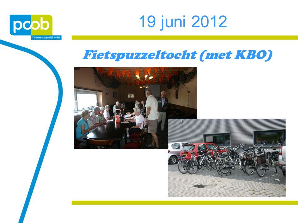 19 juni 2012 Fietspuzzeltocht (met KBO)