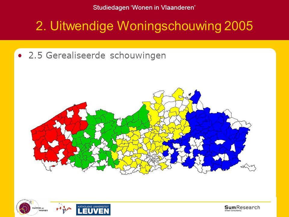 Studiedagen 'Wonen in Vlaanderen' 2. Uitwendige Woningschouwing 2005 2.5 Gerealiseerde schouwingen
