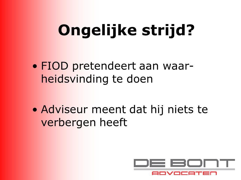 Epiloog Iedere adviseur treft ooit eens de FIOD Part of the job Wees ook hierin succesvol!!!