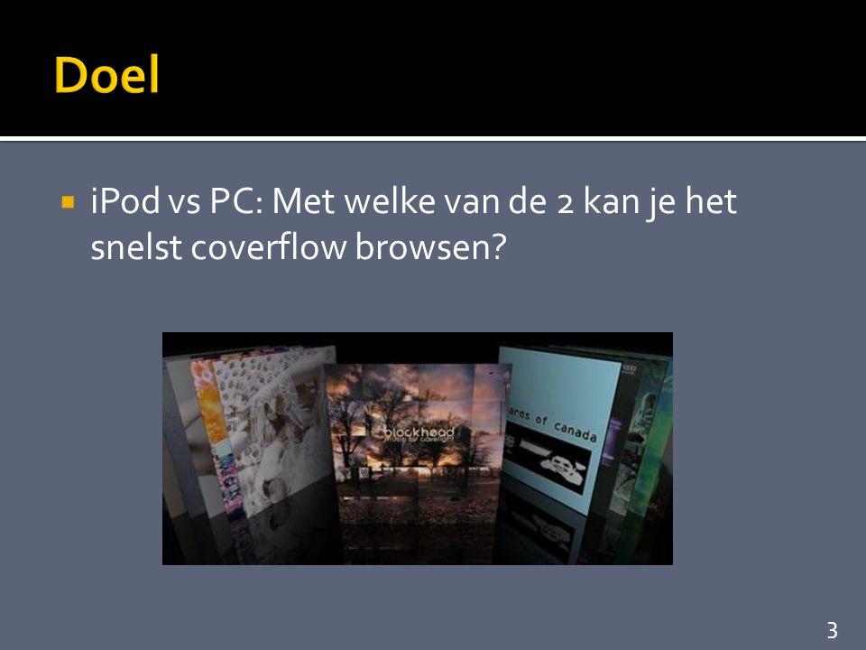  iPod vs PC: Met welke van de 2 kan je het snelst coverflow browsen? 3