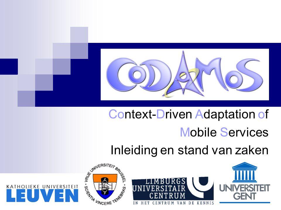Leuven, 13 oktober 2005 Overzicht project: vertrouwde slides Projectplanning: waar staan we