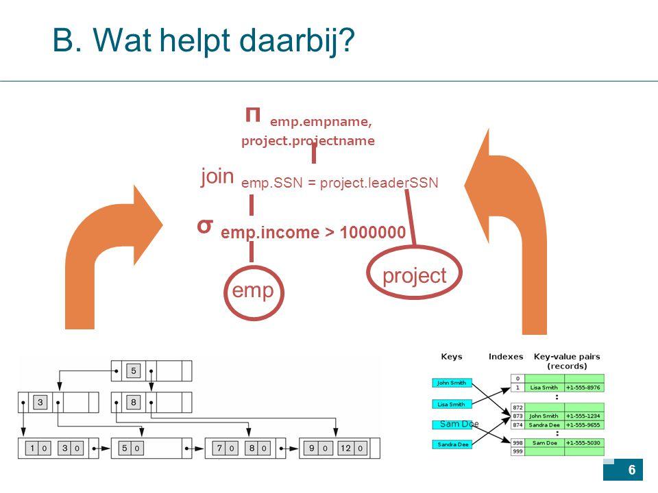 57 Operaties combineren met pijplijnen probleem: 1 query  meerdere operaties voor elke opeenvolgende operatie apart tijdelijke bestanden aanmaken: duur.