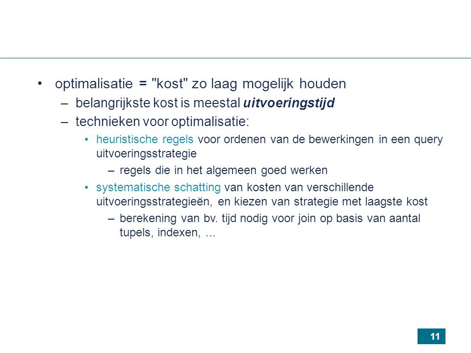 11 optimalisatie =