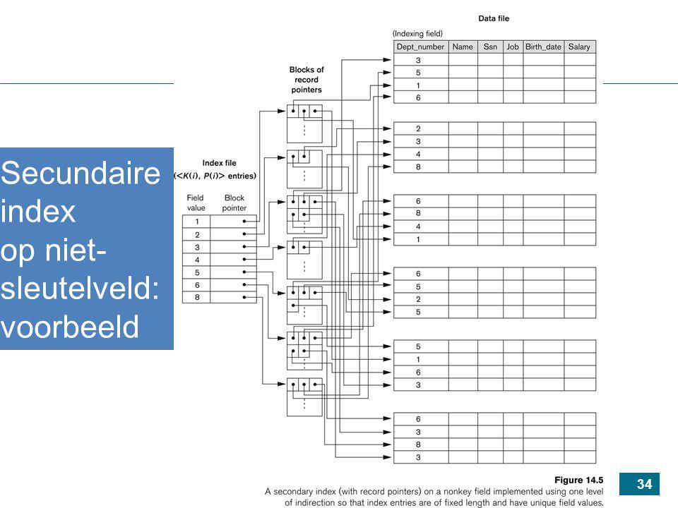 34 Secundaire index op niet- sleutelveld: voorbeeld