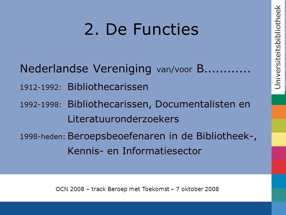Nederlandse Vereniging van/voor B............ 1912-1992: Bibliothecarissen 1992-1998: Bibliothecarissen, Documentalisten en Literatuuronderzoekers 199