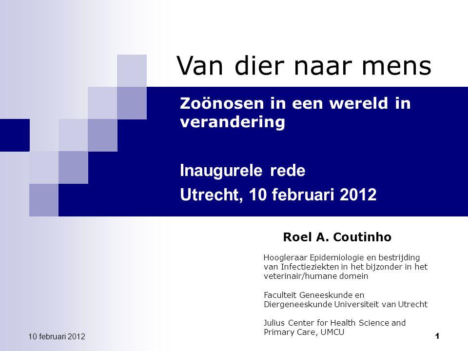 12 Van dier naar mens | 10 februari 2012 Antibiotic Usage in Animals in NL