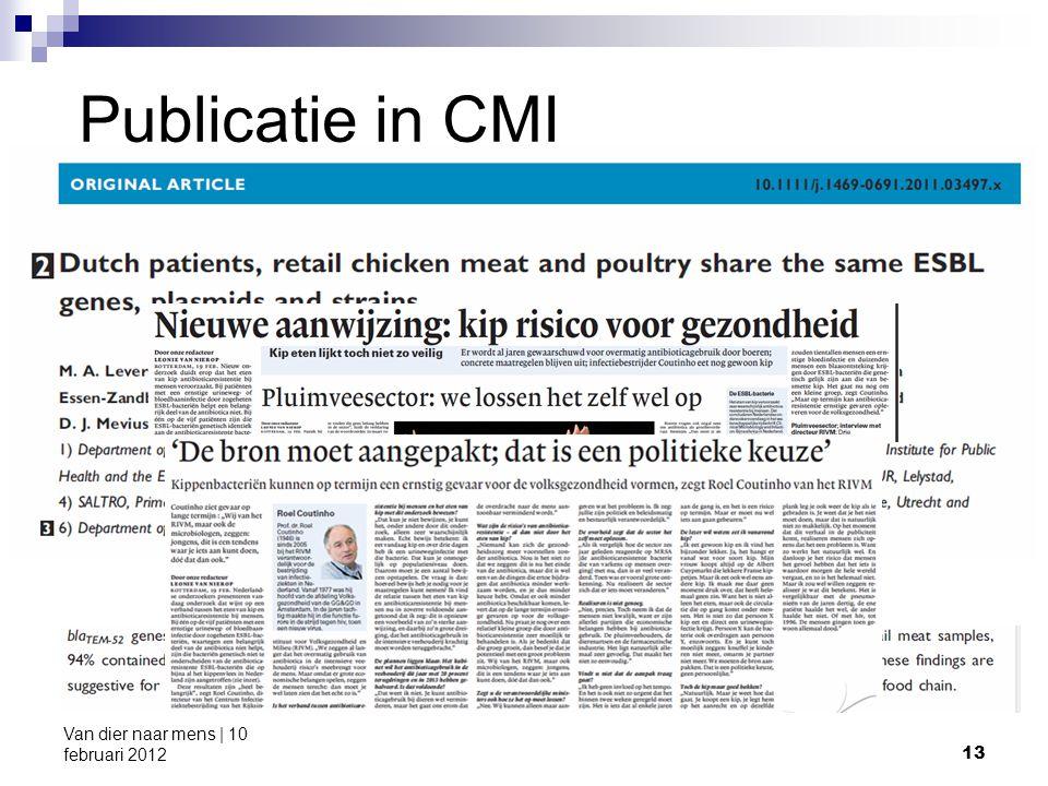13 Van dier naar mens | 10 februari 2012 Publicatie in CMI