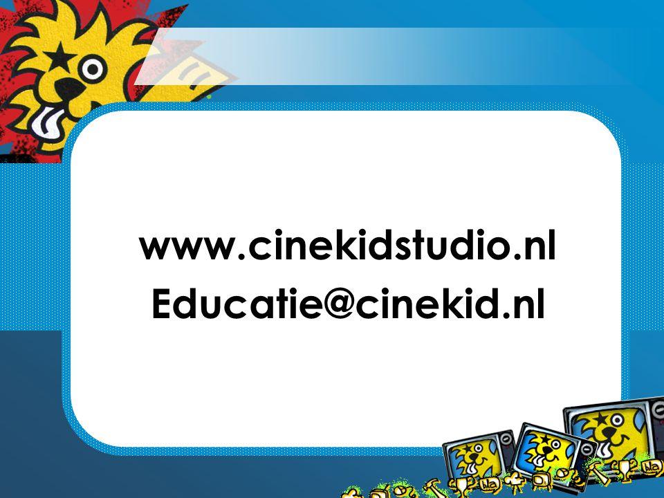 www.cinekidstudio.nl Educatie@cinekid.nl