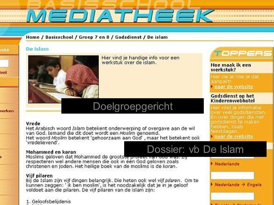 Dossier: vb De Islam Doelgroepgericht