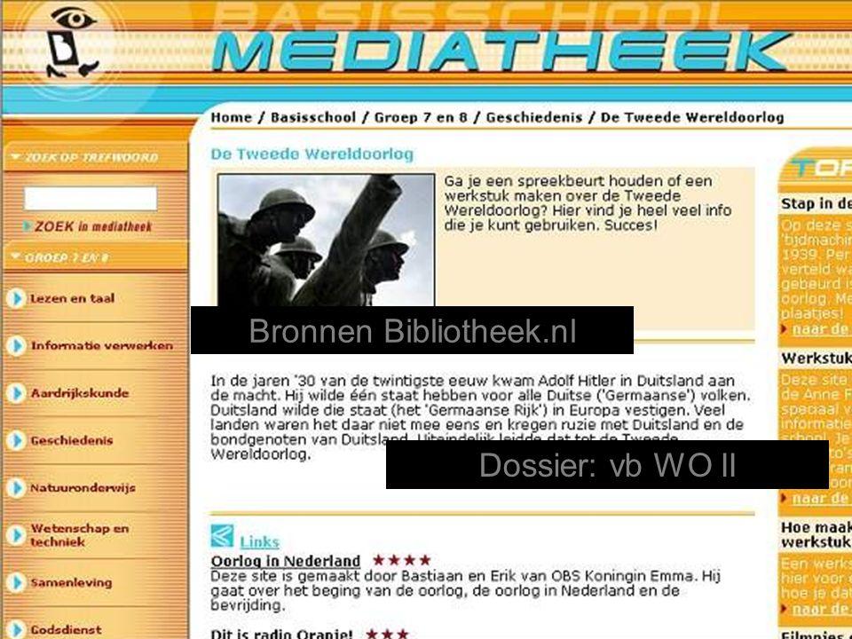 Dossier: vb WO II Bronnen Bibliotheek.nl