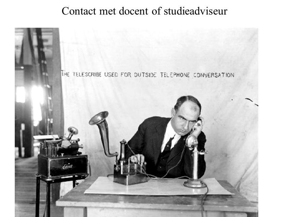 Contact met docent of studieadviseur