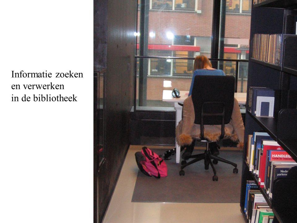 Informatie zoeken en verwerken in de bibliotheek