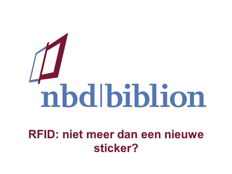 RFID: niet meer dan een nieuwe sticker