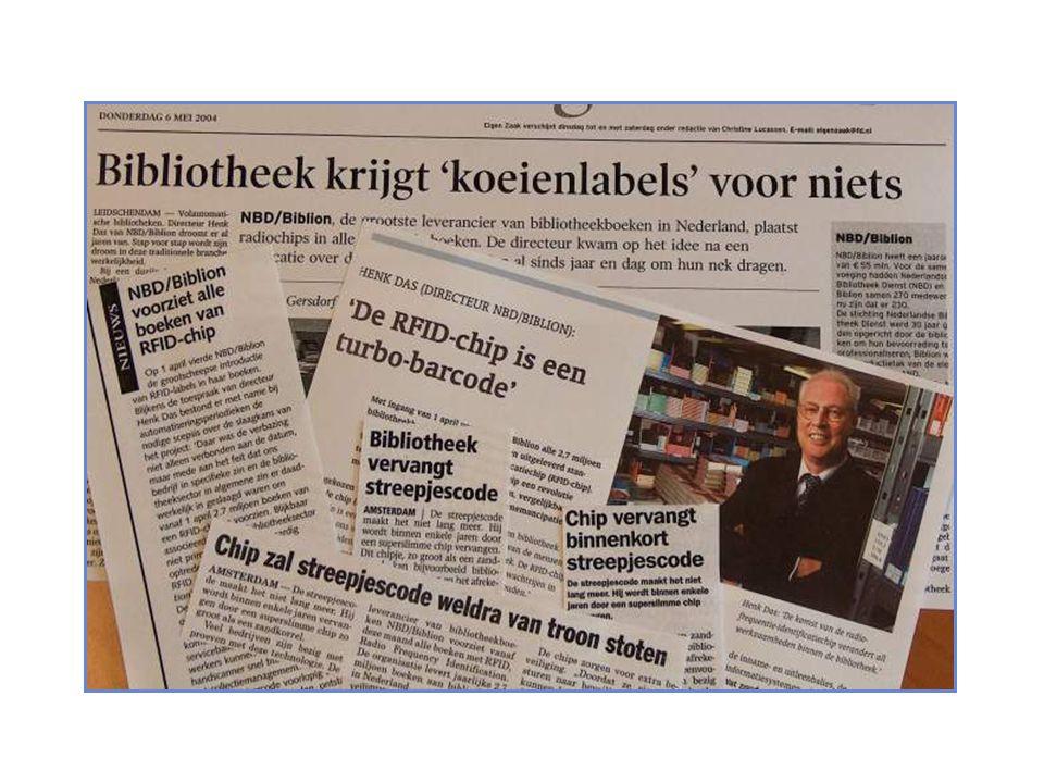 inhoud lezing iets over nbd biblion als bedrijf achter de nederlandse bibliotheken technologie als motor voor bibliotheekvernieuwing RFID en de betekenis voor de bibliotheeksector logistieke ontwikkelingen