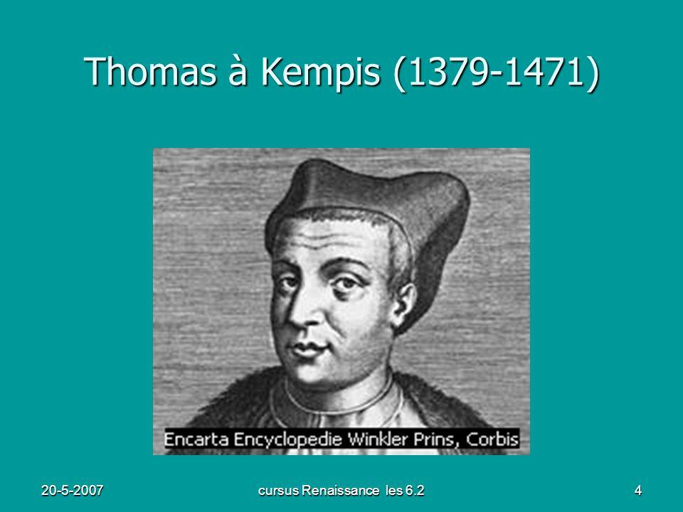 20-5-2007cursus Renaissance les 6.24 Thomas à Kempis (1379-1471)