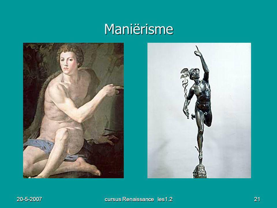 20-5-2007cursus Renaissance les1.221 Maniërisme