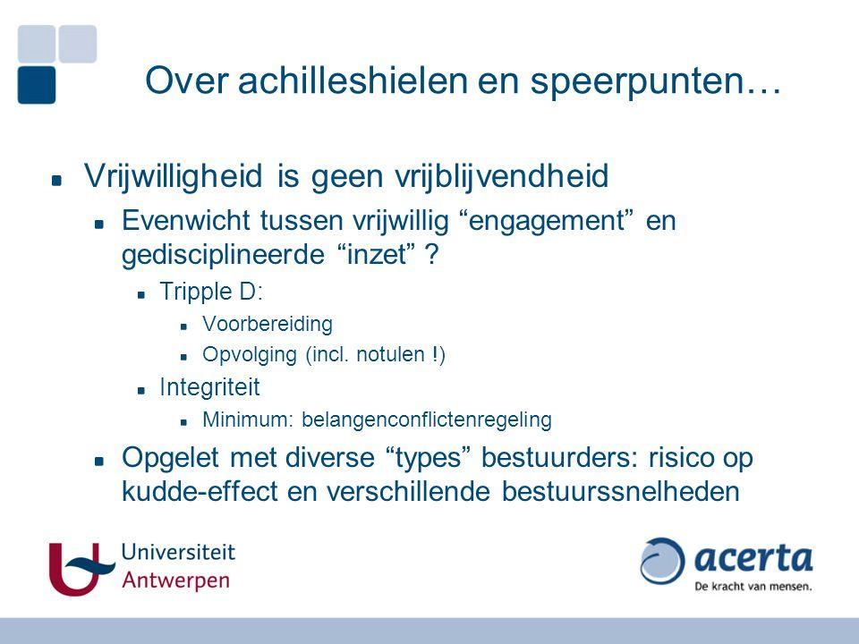 """Over achilleshielen en speerpunten… Vrijwilligheid is geen vrijblijvendheid Evenwicht tussen vrijwillig """"engagement"""" en gedisciplineerde """"inzet"""" ? Tri"""