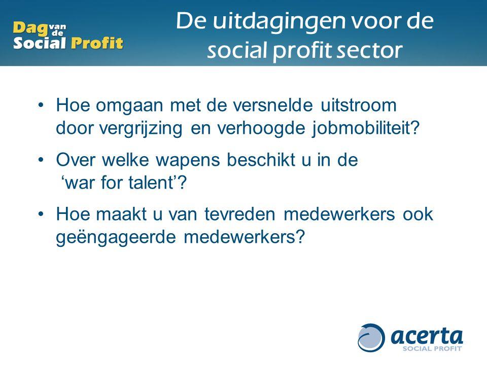 De uitdagingen voor de social profit sector Hoe omgaan met de versnelde uitstroom door vergrijzing en verhoogde jobmobiliteit? Over welke wapens besch