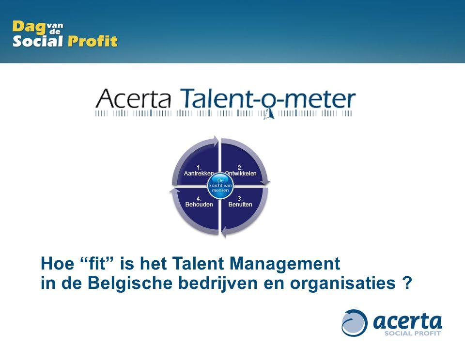 """Hoe """"fit"""" is het Talent Management in de Belgische bedrijven en organisaties ? 2. Ontwikkelen 3. Benutten 4. Behouden 1. Aantrekken"""