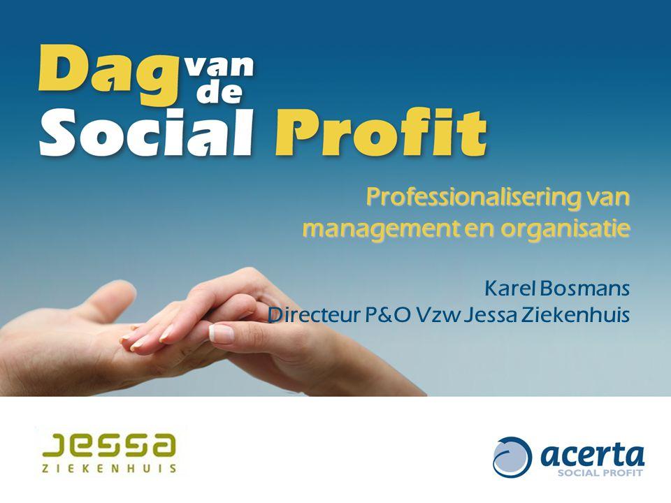 Professionalisering van management en organisatie Karel Bosmans Directeur P&O Vzw Jessa Ziekenhuis