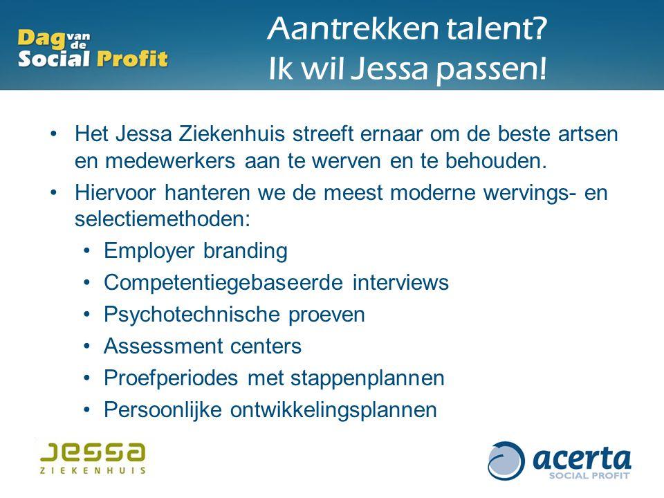 Aantrekken talent? Ik wil Jessa passen! Het Jessa Ziekenhuis streeft ernaar om de beste artsen en medewerkers aan te werven en te behouden. Hiervoor h