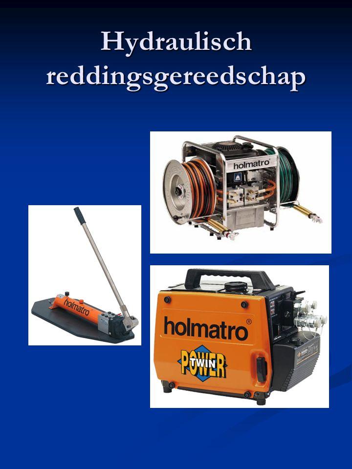 Hydraulisch reddingsmaterieel Enkelvoudige aansluiting Gewicht : 15,7 kg Motor : 2 pk Duo aansluiting Gewicht :25 kg Motor : 3,5 pk