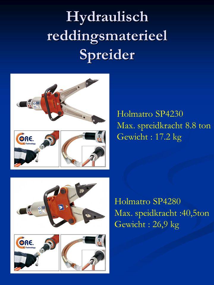 Hydraulisch reddingsmaterieel Spreider Holmatro SP4230 Max. spreidkracht 8.8 ton Gewicht : 17.2 kg Holmatro SP4280 Max. speidkracht :40,5ton Gewicht :