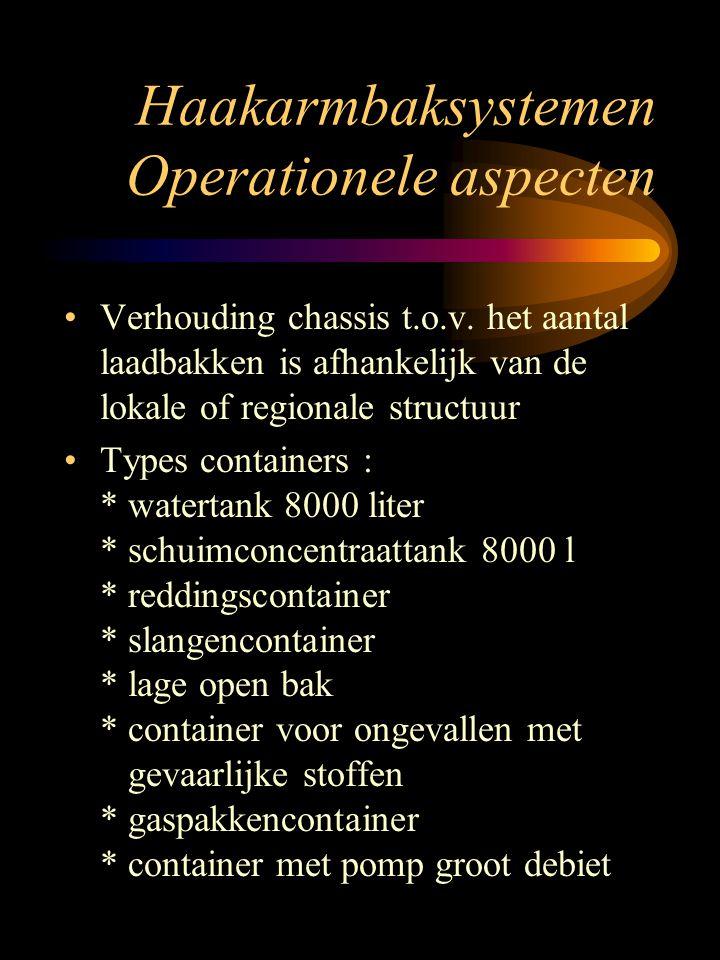 Haakarmbaksystemen Operationele aspecten Verhouding chassis t.o.v.