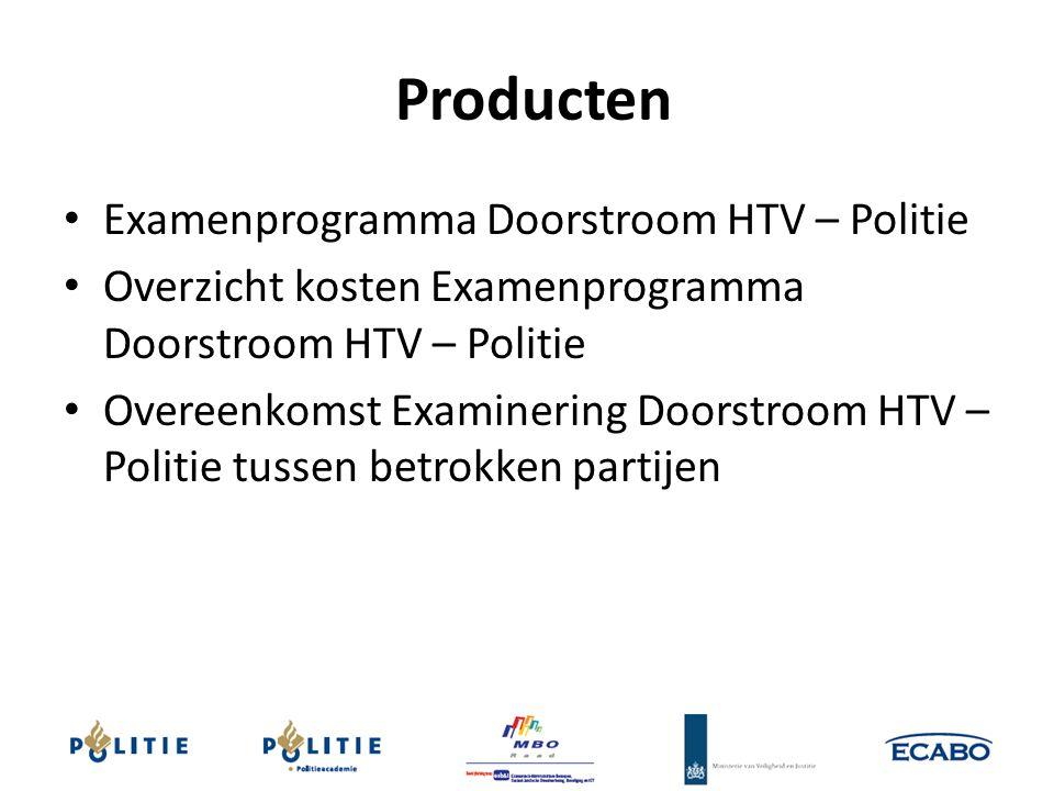 Producten Examenprogramma Doorstroom HTV – Politie Overzicht kosten Examenprogramma Doorstroom HTV – Politie Overeenkomst Examinering Doorstroom HTV –