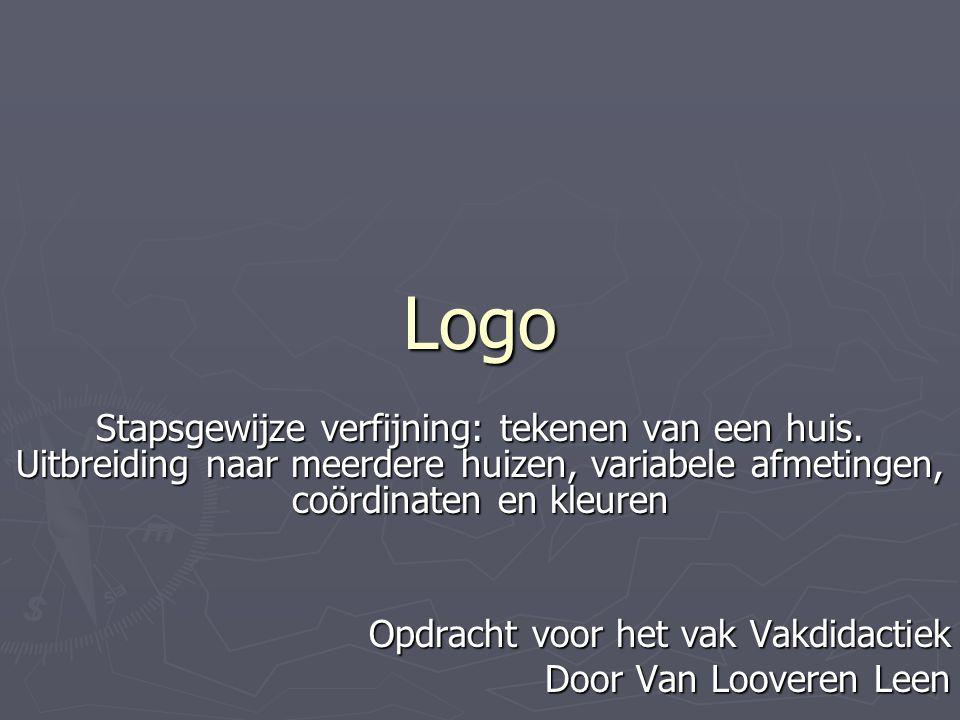 De procedure 'huis' met parameters Opgave 5c: Maak de procedure dak_met_schoorsteen_aangepast.