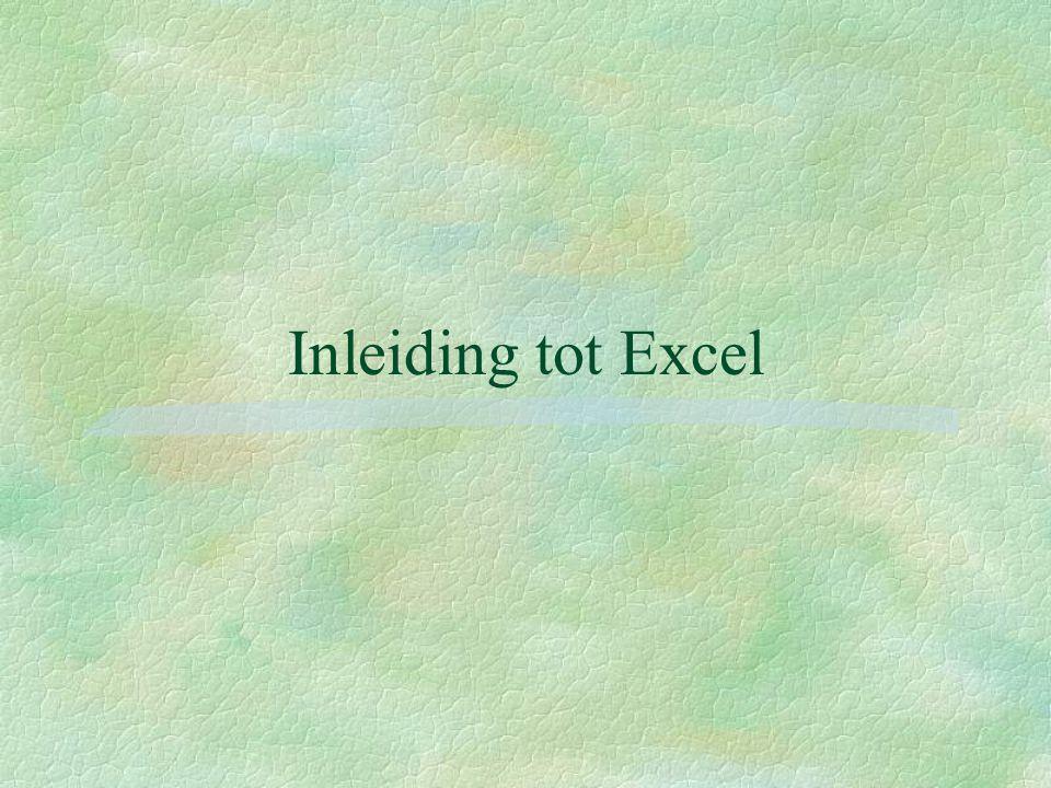 Inleiding tot Excel