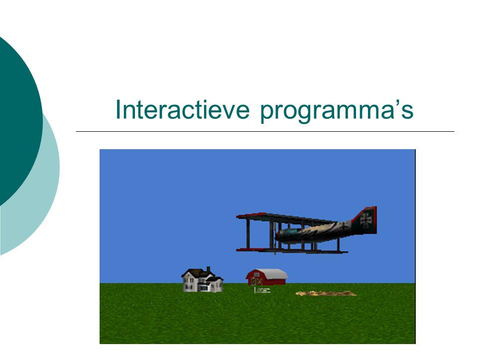 Interactieve programma's