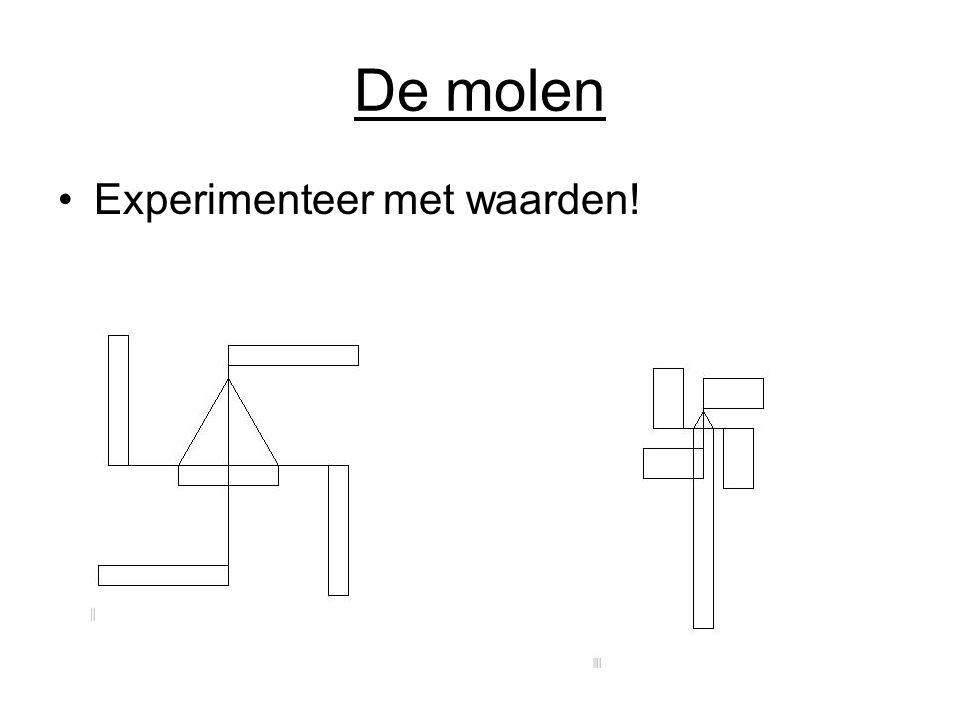 De molen Experimenteer met waarden!