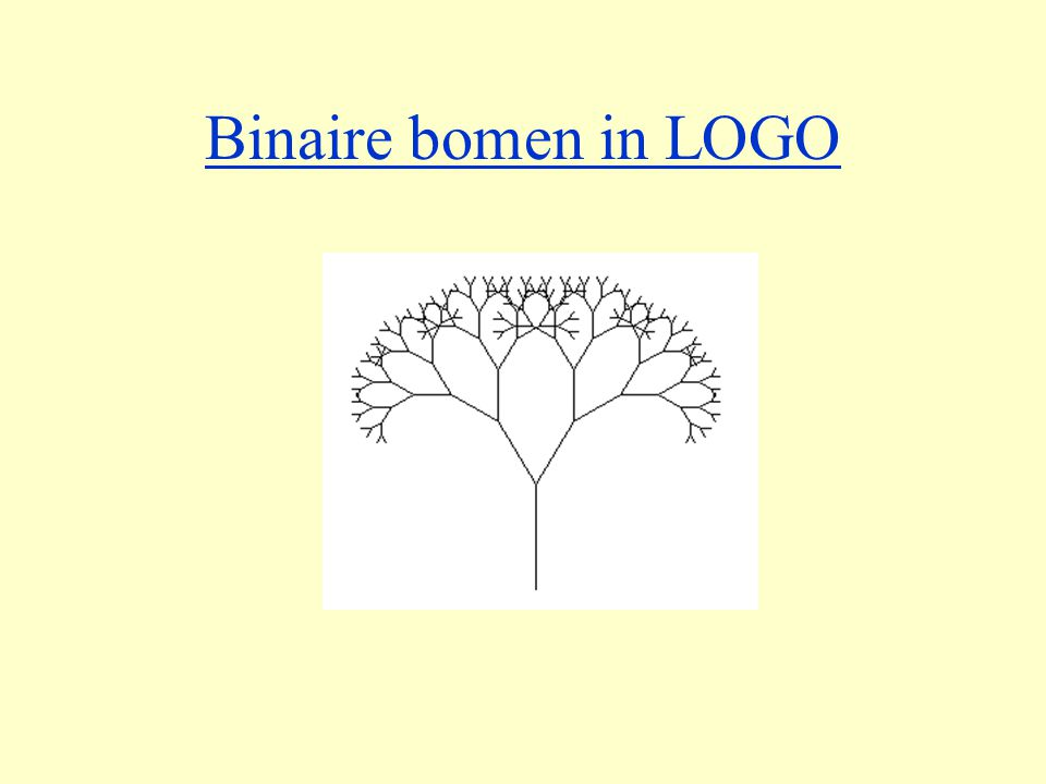 Binaire bomen in LOGO