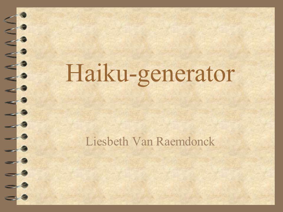 Haiku-generator Liesbeth Van Raemdonck