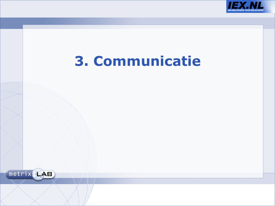 3. Communicatie