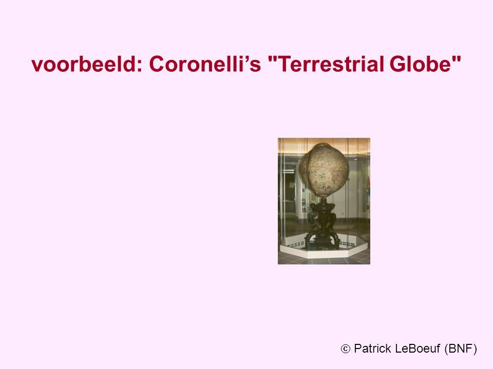 voorbeeld: Coronelli's Terrestrial Globe  Patrick LeBoeuf (BNF)