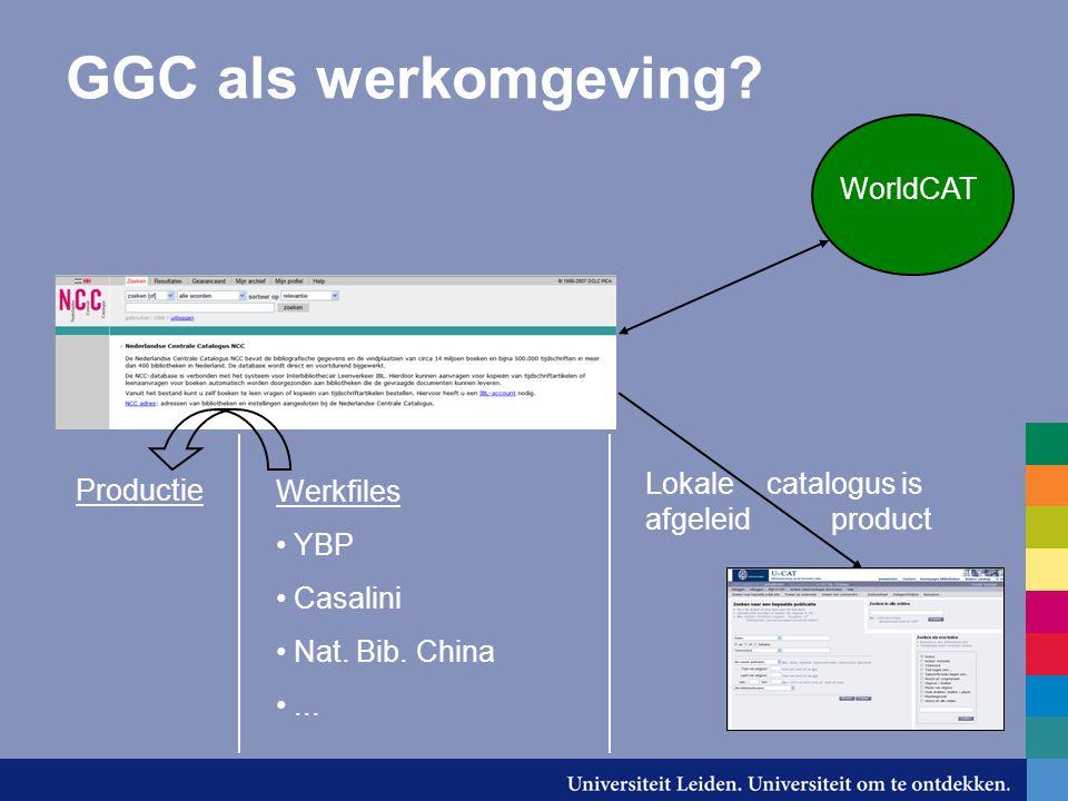 GGC als werkomgeving. Productie Werkfiles YBP Casalini Nat.