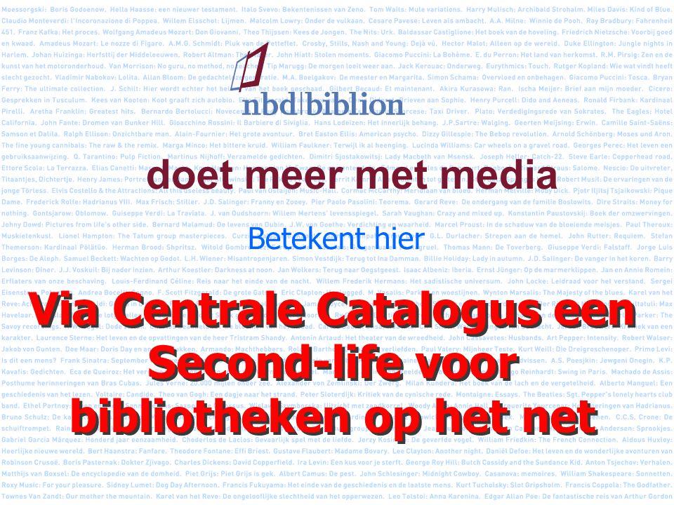 doet meer met media Betekent hier Via Centrale Catalogus een Second-life voor bibliotheken op het net