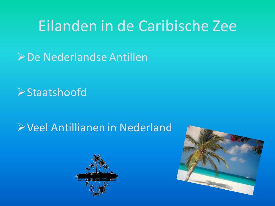 Eilanden in de Caribische Zee  De Nederlandse Antillen  Staatshoofd  Veel Antillianen in Nederland