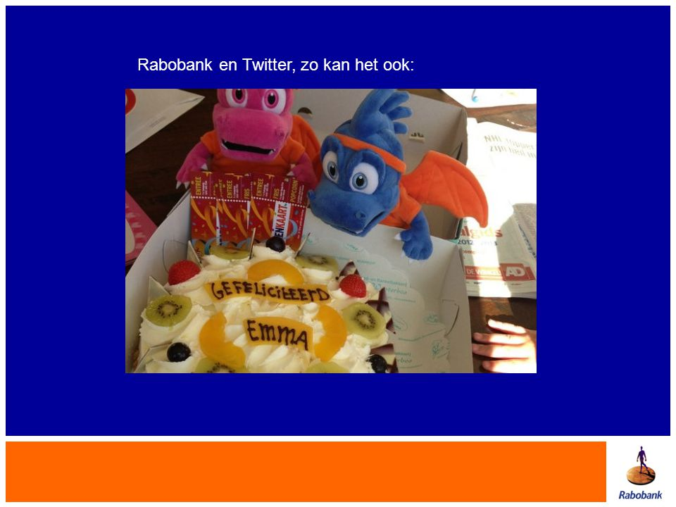 Rabobank en Twitter, zo kan het ook:
