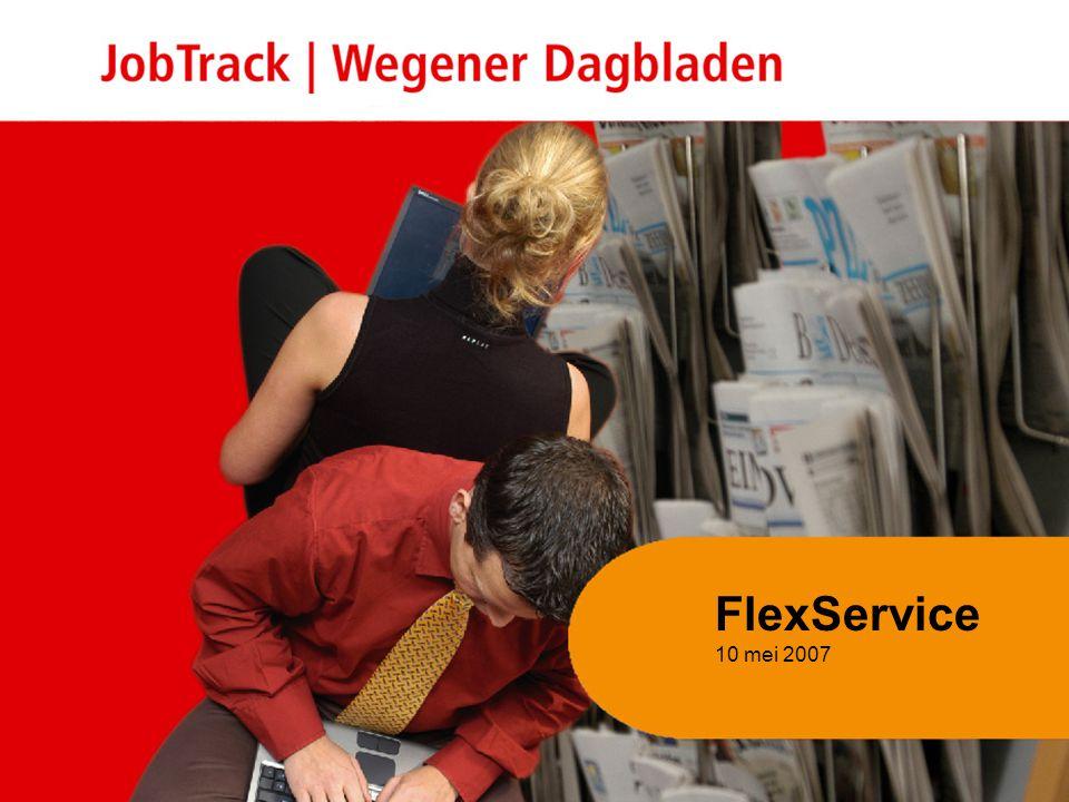 2 Inhoud presentatie Flex Service 10 mei 2007 Volume arbeidsmarktcommunicatie vs conjunctuur Mediabestedingen uitzendbranche Genereren kwalitatieve response: doelgroep + bereik + boodschap Succesvol werven Vragen en opmerkingen