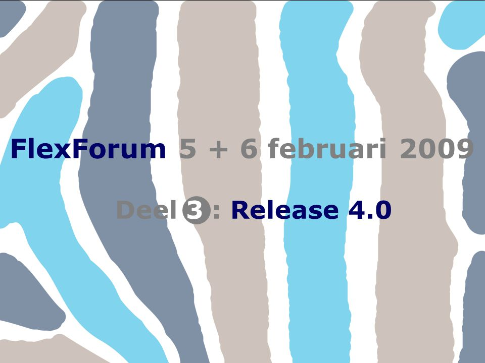 FlexForum 5 + 6 februari 2009 Copyright © FlexService 2009 FlexForum 2009312 Onder andere in module Aanvraag zijn tabbladen samengevoegd.