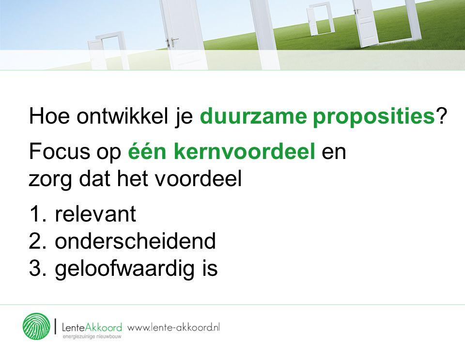 Hoe ontwikkel je duurzame proposities.