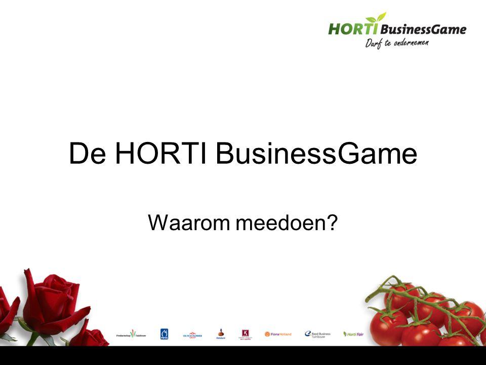 De HORTI BusinessGame Waarom meedoen?